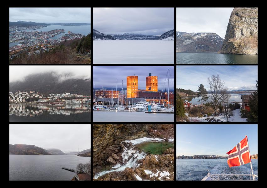 Reisefotos von Bergen nach Oslo
