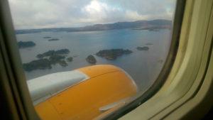 Anflug auf Bergen, Norwegen