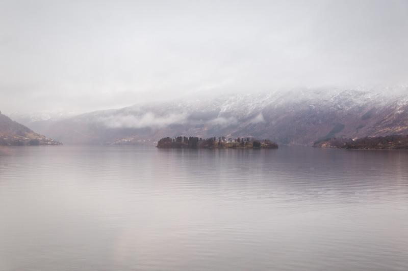 Insel im Fjord nahe BErgen